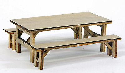 BANTA MODELWORKS CHOW HALL TABLE F G Lg Scale Model Railroad Structure Kit BM915