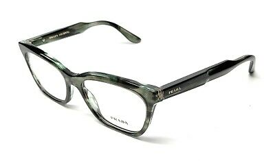 NEW PRADA VPR 24S UEP-1O1 GREEN WOMEN'S AUTHENTIC EYEGLASSES FRAME 55-16