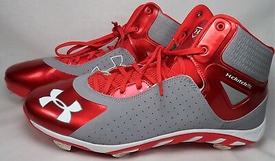 online store d781a bf774 Under Armour Spine Clutchfit Metal Baseball Cleats Mens Size 13 1250042-026