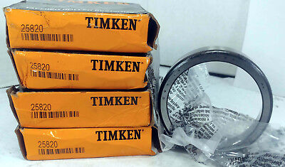 4 New Timken 25820 Wheel Race Front Outer Rear Nib Make Offer