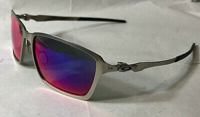 Oakley Men Sunglasses:  Tincan - satin Chrome - Pos. Red Iridium Polarized