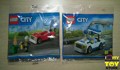 RETIRED - LEGO 30347 30352 CITY POLYBAGs FIRE CAR & POLICE CAR (2016÷7) - NEW
