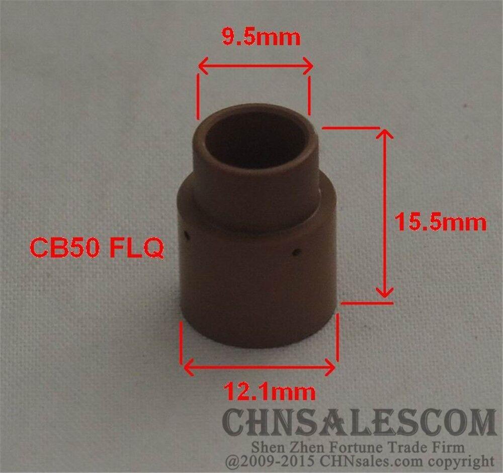 10 PCS CEBORA P50 P70 Plasma Cutter Torch Ceramic Swirl Ring Ref.1510