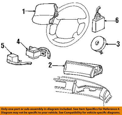 FORD OEM 96-98 Windstar Airbag Air Bag-Clockspring Clock Spring F68Z14A664CA