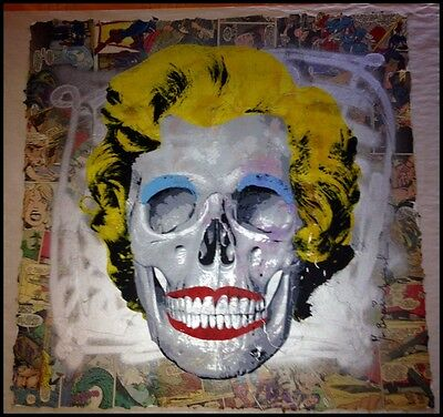 MR BRAINWASH 1/1 REBORN ANDY WARHOL VARIANT ORIGINAL SCREEN PRINT Skull Banksy