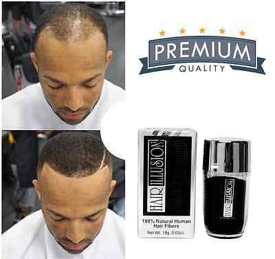 Hair Enhancer - Hair Loss Hair illusion Real Hair Building Fibers Beard Enhancment Black 18g