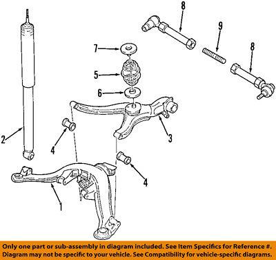 Cadillac GM OEM 97-01 Catera Rear Suspension-Control Arm 90576515