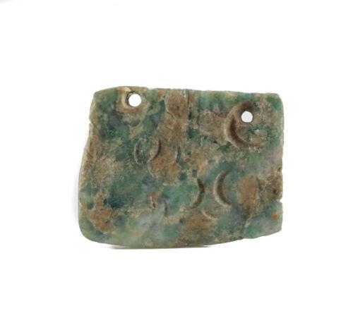 Pre Columbian MEZCALA? Green Stone Amulet Pendant - Western Mexico