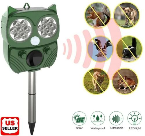 solar power ultrasonic animal repeller pest repellent