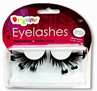 Halloween Black Batty Bat Eyelashes Dracula Vampire False Lashes With Adhesive (Bat Eyelashes)