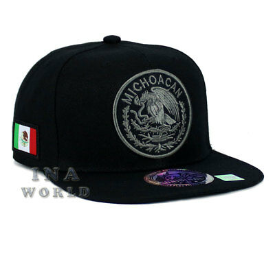 MEXICAN hat MEXICO Federal Logo State Snapback Baseball cap-MICHOACAN /Grey Logo