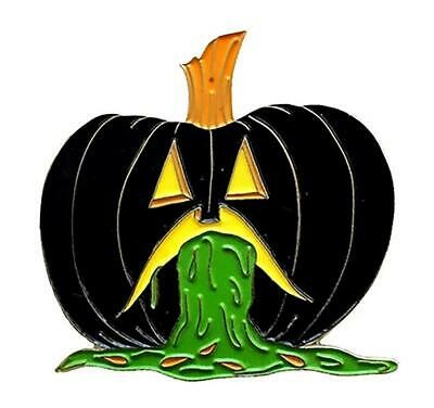 PUKING PUMPKIN V3 GID ENAMEL PIN BY - Puke Pumpkin
