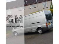 GM Van and Man services - house/office removal - garden/rubbish clearance - pick ups and deliveries