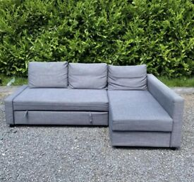 FREE DELIVERY 🚚 IKEA FRIHETEN GREY SOFA BED WITH STORAGE GOOD CONDITION