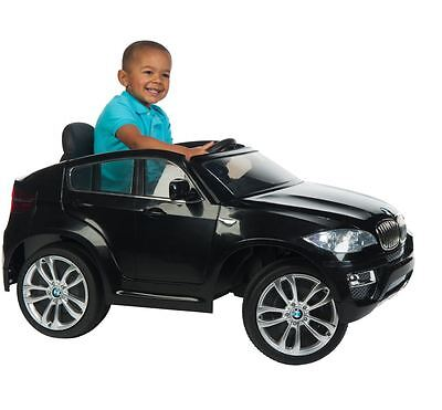 Car for Kids Ride On Electric Battery Operated Black BMW X6 Toddler Toy Boy Girl