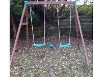 Children's double outdoor swing £30