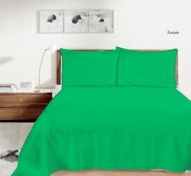 Plain Duvert Cover Set Non Iron Percal Quilt Cover With Pillow Cases