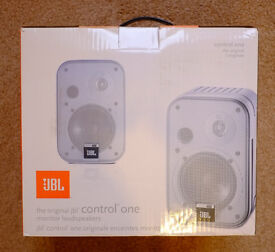 JBL Control Ones, Silver, boxed, immaculate