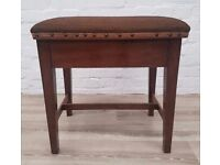 Mahogany Piano Stool (DELIVERY AVAILABLE FOR THIS ITEM OF FURNITURE)