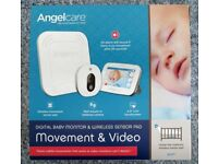 ANGELCARE BABY MONITOR MOVEMENT & VIDEO AC417 WIRELESS