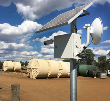 Solar Construction Surveillance cctv cameras