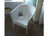 Wicker Chair White Almost New
