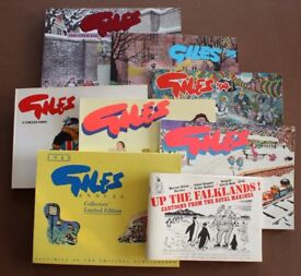Giles cartoon books including Collectors' Limited Edition 1948 facsimile plus extra Up The Falklands