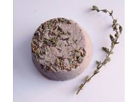 Lavender Thyme Organic Vegan Bath Bomb / Fizzies/ Bath Oil - Natural Skin Care - handmade in Bristol