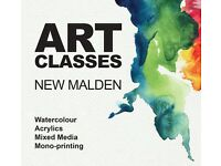 Art Classes in New Malden! Also paintings available for sale by artist.
