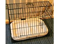 30in Luxury Dog Cage Used Once RRP ��77.95. Slanted. Fits most cars H 52cm x L 76cm x W 54cm