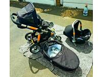 iCandy Apple 3in1 pram with raincovers