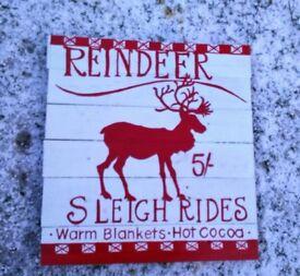 christmas decorative yard art sign