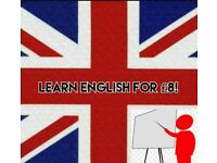 ENGLISH TUTOR FOR LESSONS AT ONLY £8!