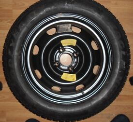 Barely used Goodyear 205 55 r16 nct 5 91v on peugeot 307 rim