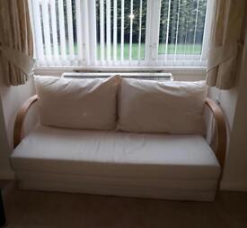 Cream Sofa Bed for sale