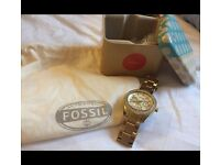 Fossil Ladies MultiFunction Gold Watch