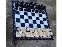 Large Floor Chess Set with Plastic Mat and Pieces