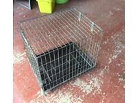 Dog cage for car.