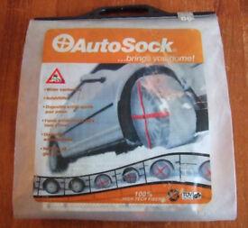 Autosock - Winter Traction Aid (Snow Socks ) - R14-R15-R16-R17-R18 Wheels NEVER USED