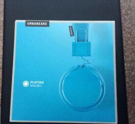 Brand New Urbanears Plattan 'Malibu' Blue Over-ear Headphones Boxed Urban Ears