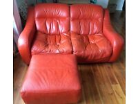 Sofa Armchair and Pouffe