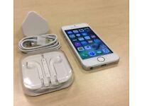 Silver iPhone SE 16GB Factory Unlocked Sim Free Mobile Phone + Warranty