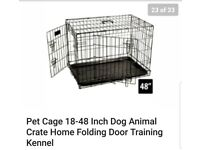 Dog cage 48inch used twice