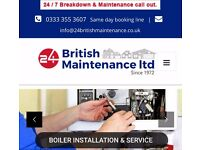 Gas heating engineer, plumber, electrician , boiler & cooker install and repair from £45 p/h.