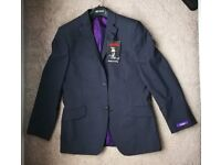 Mens Black and Purple, Ted Baker Blazer Jacket, Size 38S (Brand New)