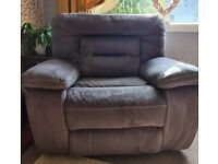Harveys Kinmen 3 seater reclining sofa and 2 reclining arm chairs