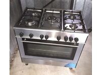 KENWOOD 90cm Wide Stainless Dual Fuel Cooker