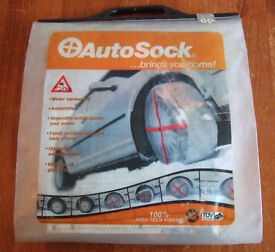 Autosock - Winter Traction Aid (Snow Socks ) - R14-R15-R16-R17-R18 Wheels NEVER USED