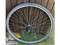 Vintage peugeot rear wheel 27x1 1/4