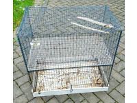 """cage size is H27"""", L 27"""" used condition needs a little of cleaning and Tlc."""
